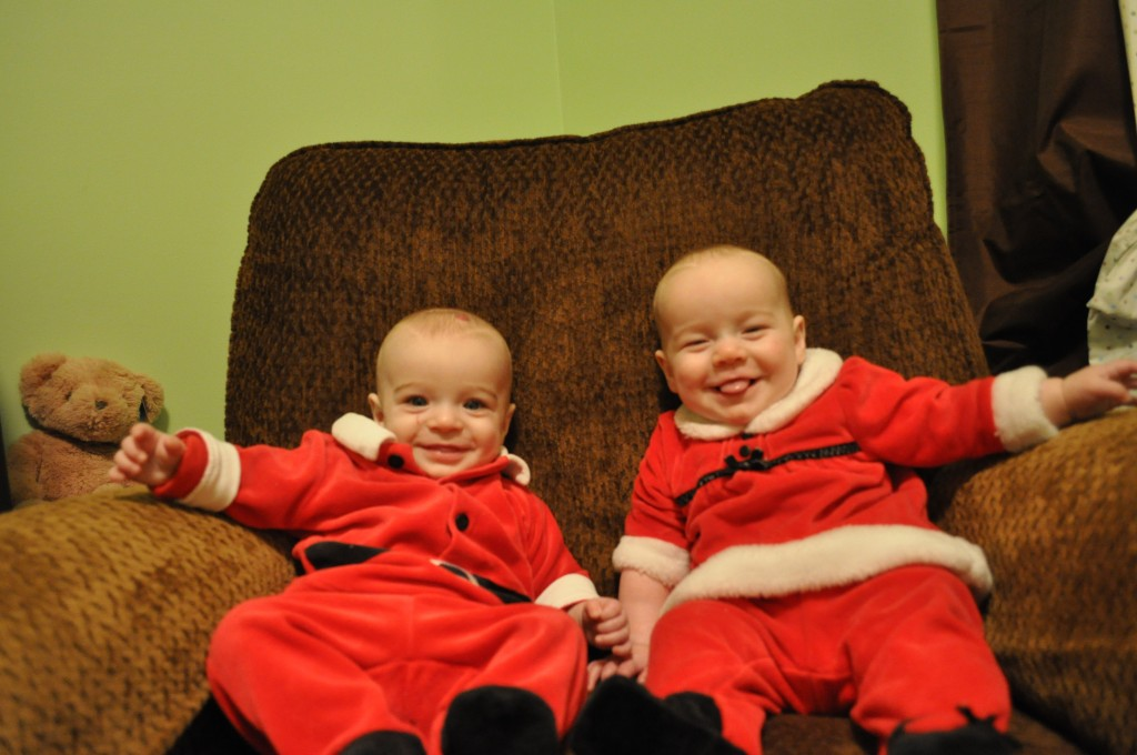 Zach & Lucy on their 7 month day just before Christmas 2012.