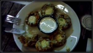 Fried Stuffed Mushrooms