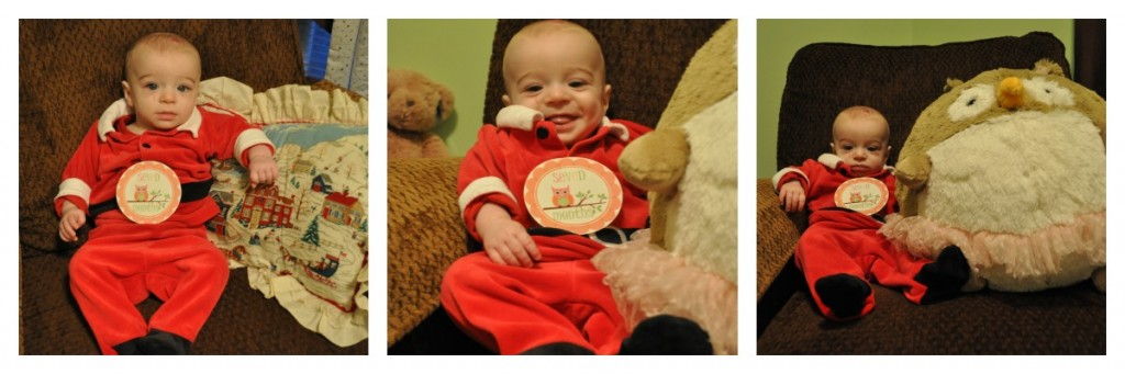 7 mo old Zach {the Santa suit edition}