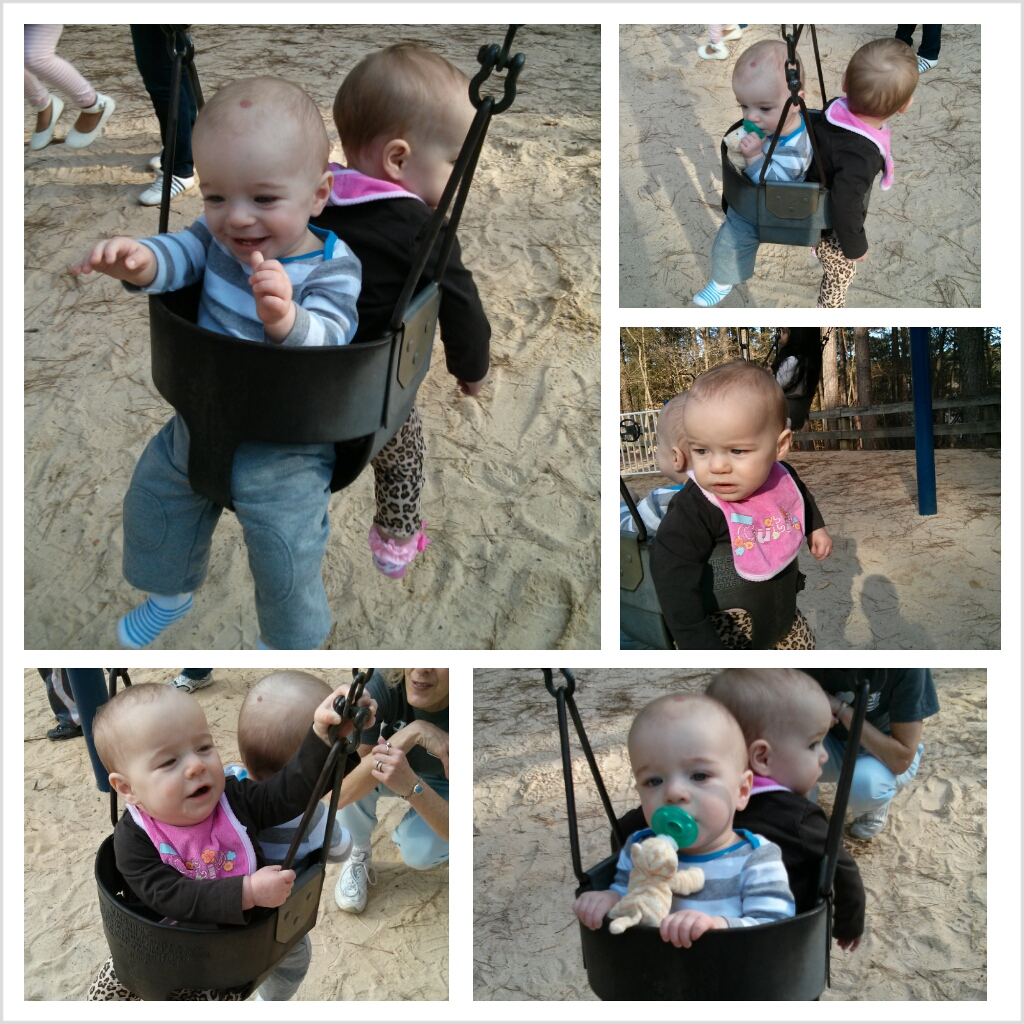 Swinging for the first time!