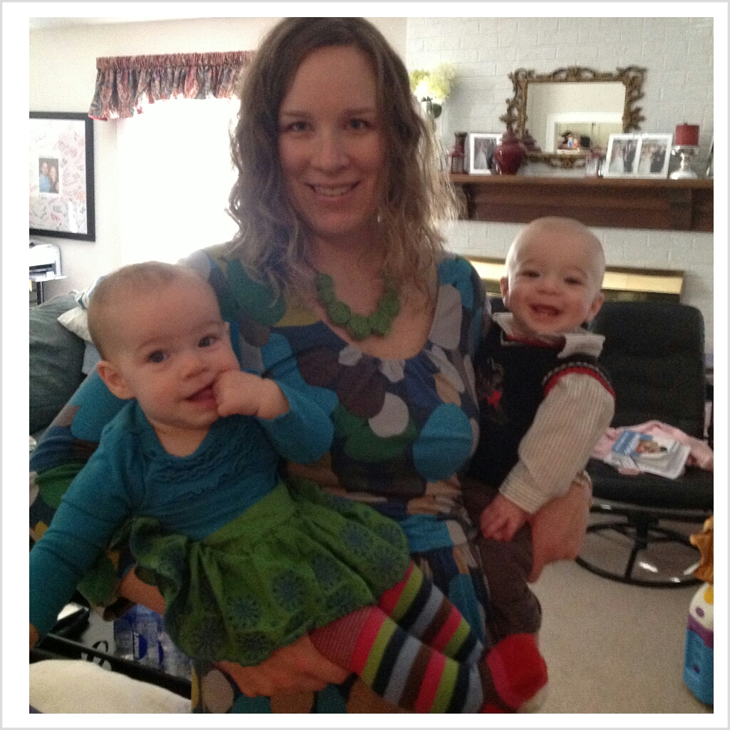 Lucy, Mommy & Zach all ready for church.