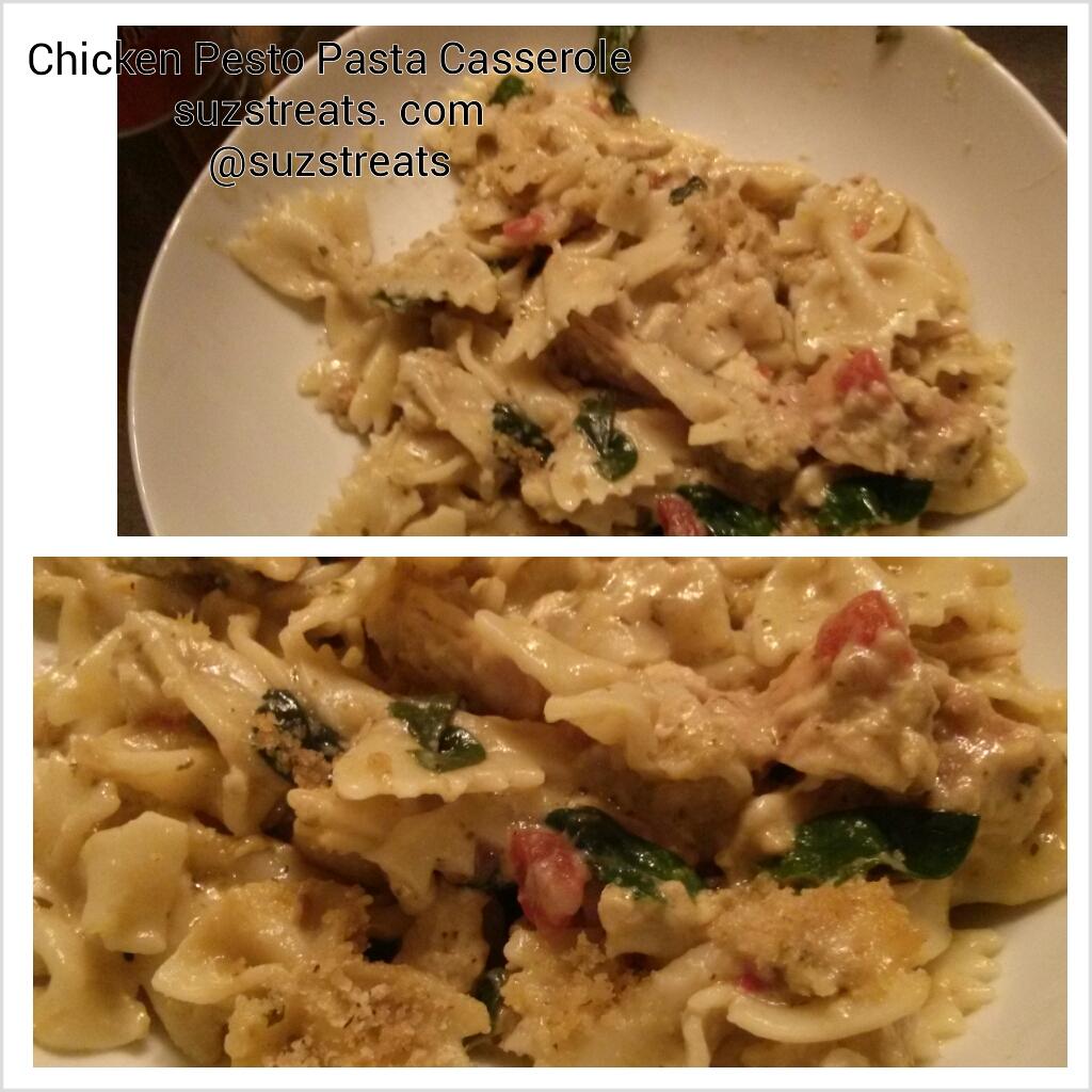 Chicken Pesto Pasta Casserole
