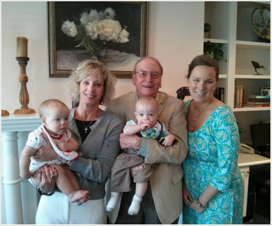 Four Generations: Papa, Cici, me, Lucy & Zach