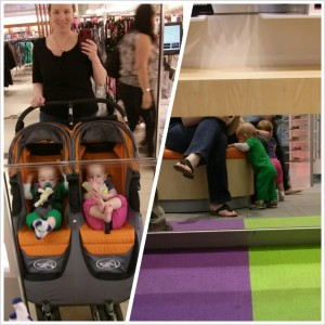 A selfie with Mommy in Macy's then Zach cruising in his new kicks in Stride Rite.