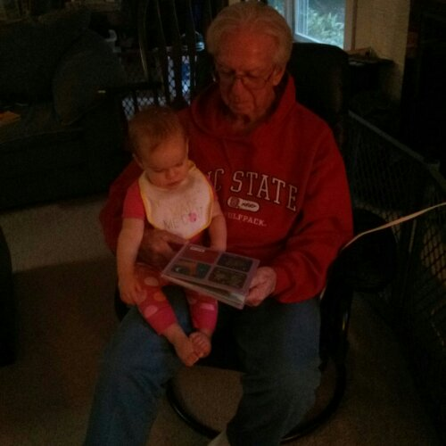 Pawpaw reading Lucy Goodnight Owl