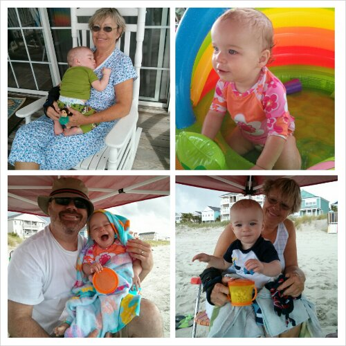 Monday morning naps with Nana then playing on the beach while we could.