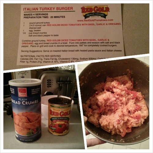 Red Gold turkey burger mix