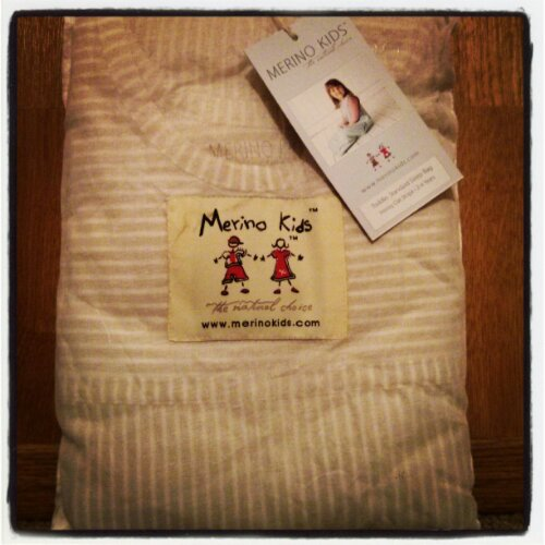 Merino Kids sleep sack packaging